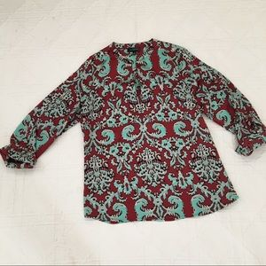 The Limited Burgundy and Turquoise Popover